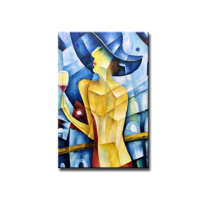 Sexy Woman Wall Art 100% Hand Painted Vertical Abstract Oil Paintings on Canvas