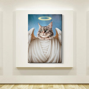 Angel Custom Pet Canvas with Framed Ready to Hang