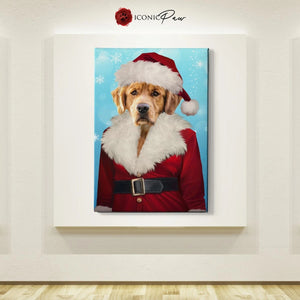 Mrs. Claus Custom Pet Canvas with Framed Ready to Hang