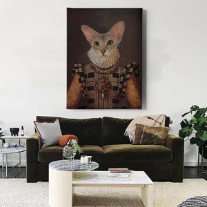 Countess Custom Pet Canvas with Framed Ready to Hang