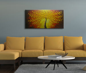 20*40inch Save $7 ($50.99 on Amazon) Horizontal Gold Tree Wall Art Painting Framed Ready to Hang (Only for US)