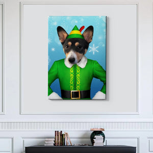 The Elf Custom Pet Canvas with Framed Ready to Hang