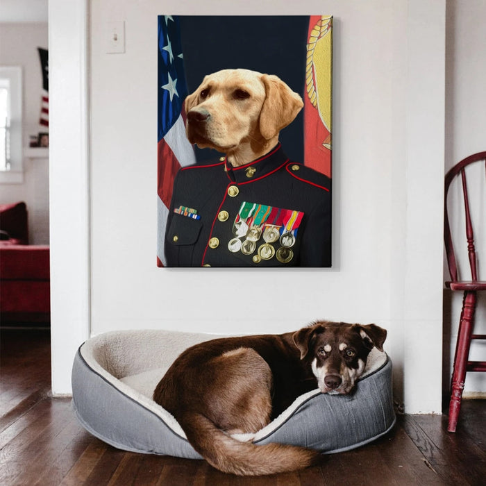 Marine Custom Pet Canvas with Framed Ready to Hang