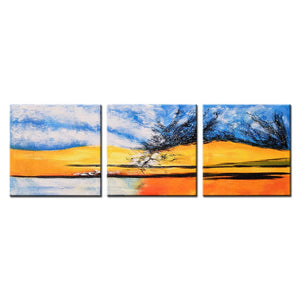 20*20inch*3 Save $37 ( $105.99 on Amazon) Modern Art Acrylic Paintings Framed Ready to Hang (Only for US)