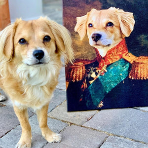The Duke Custom Pet Canvas with Framed Ready to Hang