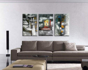 24*36inch*3 Save $56 ($139.99 on Amazon) Cheap Modern Art Framed Ready to Hang (Only for US)