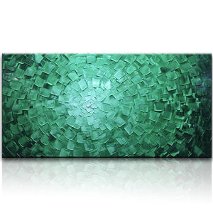 Green to White Regular Texture Living Room Wall Canvas