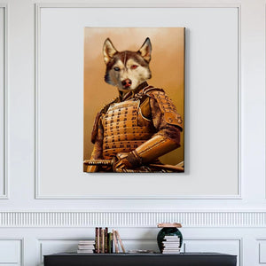 Samurai Custom Pet Canvas with Framed Ready to Hang