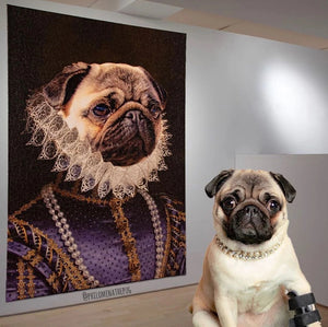 The Socialite Custom Pet Canvas with Framed Ready to Hang