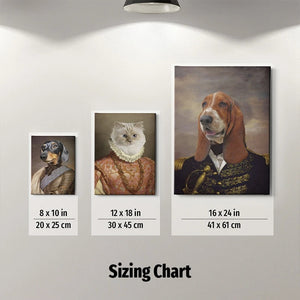 The Admiral Custom Pet Canvas with Framed Ready to Hang
