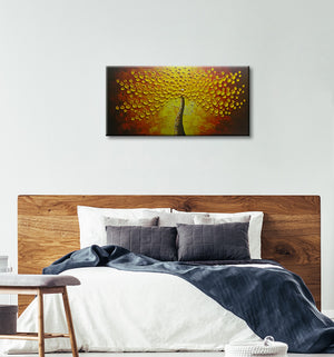 24*48inch Save $28 ($79.99 on Amazon) Gold Canvas Painting Framed Ready to Hang (Only for US)