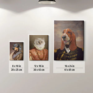 The Aristocrat Custom Pet Canvas with Framed Ready to Hang