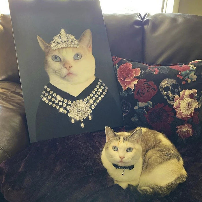 Classy Lady Custom Pet Canvas with Framed Ready to Hang