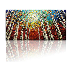 Modern Wall Art Colorful Forest Perfect for Living Room Family Room