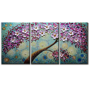 Canvas Art Set Pink Petals Flower Tree Perfect for Living Room Family Room