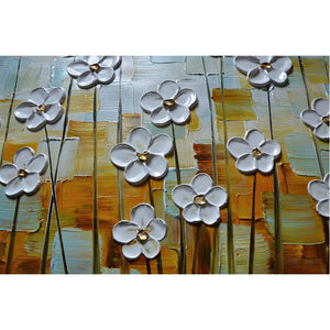 Wall Art Decor Flower Painting Hand Painted Waterproof Never Fade