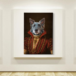 The Baroness Custom Pet Canvas with Framed Ready to Hang