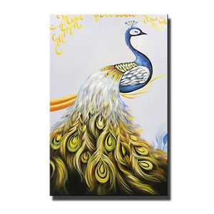 24*36inch Save $9 ($60.99 on Amazon) Peacock Canvas Art Framed Ready to Hang (Only for US)