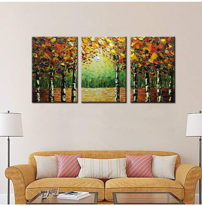 20*30inch*3 Save $51 ($129.99 on Amazon) Canvas Art Painting Framed Ready to Hang (Only for US)
