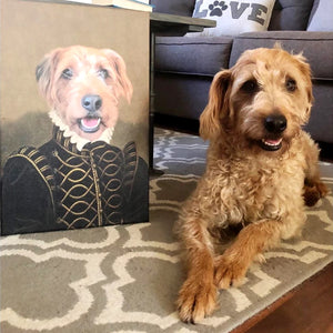 The Noble Custom Pet Canvas with Framed Ready to Hang