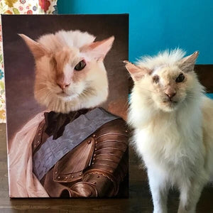 Knight Custom Pet Canvas with Framed Ready to Hang