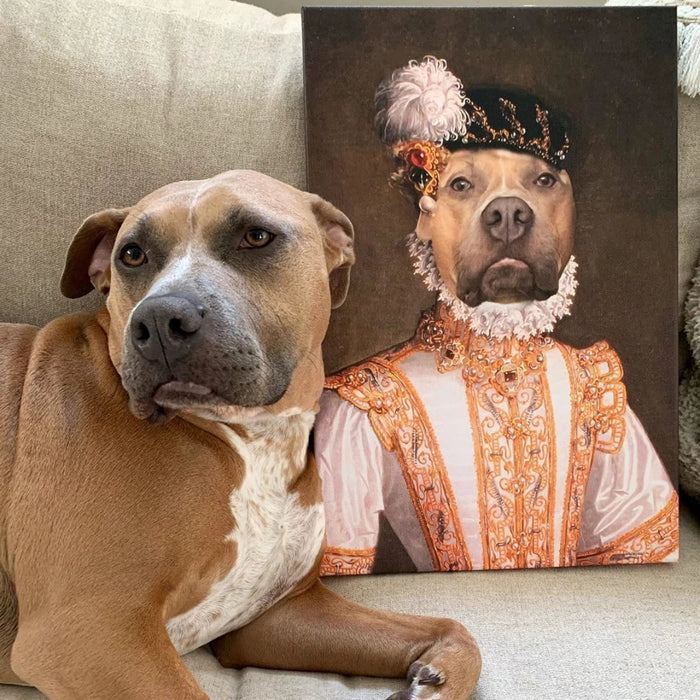 Duchess Custom Pet Canvas with Framed Ready to Hang