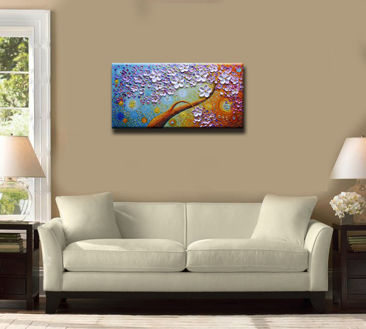 Handpainted Oversized Oil Paintings Inexpensive Modern Floral Painting