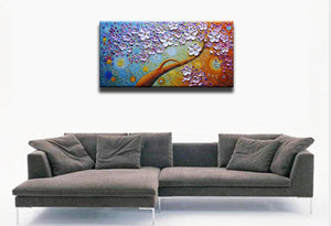Abstract Floral Painting 100% Hand Painted by Talent Artists