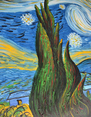 Van Gogh Oil Paintings Starry Night Reproduction 100% Hand Painted