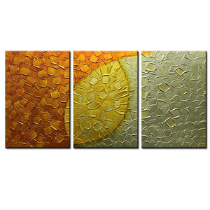 AsdamArt Handpainted oil paintings Extra Large Artwork 3 Panels Modern Abstract Art