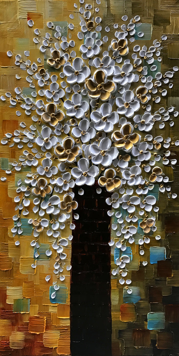 24*48inch Save $29 ($82.99 on Amazon) Flower Tree Painting Framed Ready to Hang (Only for US)