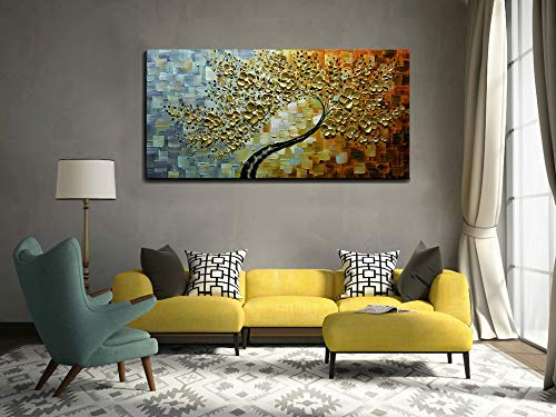 Abstract Flower Paintings Clearly Texture Waterproof Thick Oil Canvas Art