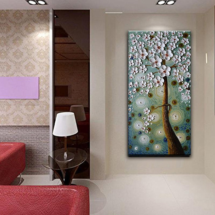 Abstract Flower Paintings 100% Hand Painted Never Fade Waterproof