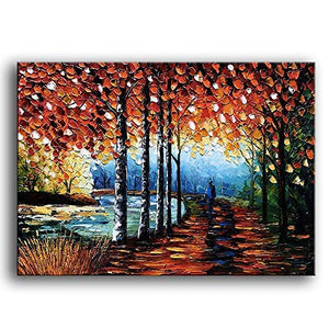 Knife Oil Painting Handmade Abstract Landscape Canvas Art Housewarming Gift