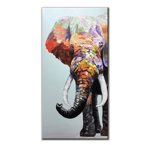 Acrylic Paintings for Sale Vertical Wall Canvas Elephant No Fade for Ten Years Decor Home