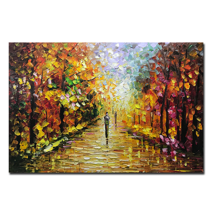 Affordable Original Art Autumn Trees Contemporary for Living Room