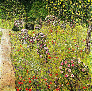 Affordable Painting Gustav Klimt Fruit Garden with Roses