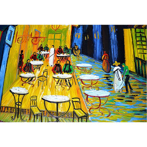 Reproductions Oil Paintings Van Gogh The Cafe Terrace 100% Hand Painted