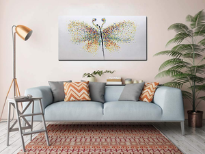 Extra Large Art Colorful Butterfly Hand Painted by Artists