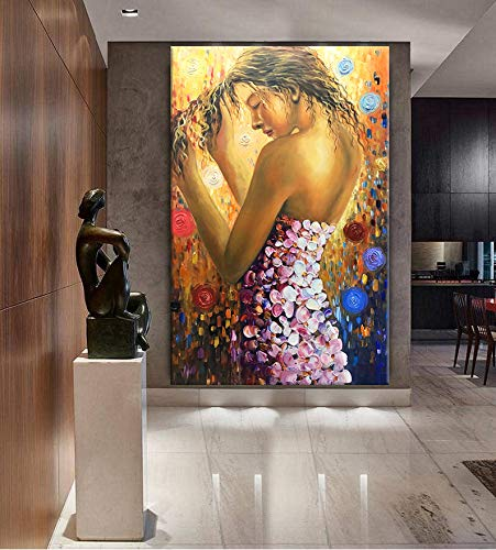 Hand Painting Lady Canvas Painting Decor Living Room Art Sale Website Free Shipping