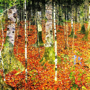 Replica Hand Painted Artwork for Home Gustav Klimt Birch Forest