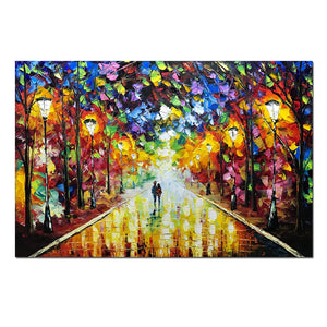 Artwork for Wall Decoration Colorful Street Partner Meander Canvas Art