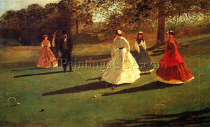 Hand Painted Artwork Sports Online Winslow Homer Croquet Players