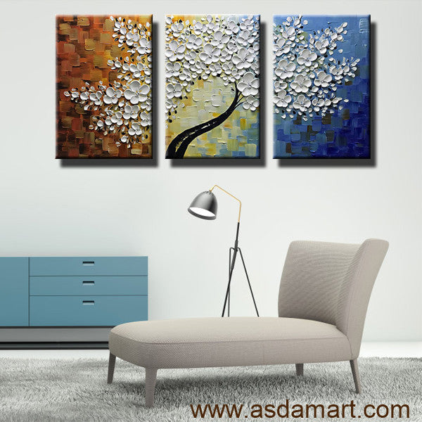 AsdamArt Handpainted oil paintings Abstract Maple Tree Wall Art 3D artwork living decor Asd060