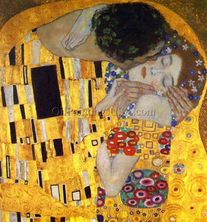 Famous Copy Bedroom Paintings Gustav Klimt The Kiss Detail