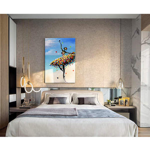 Bedroom Artwork Palette Knife Slim Dance Lady Oil on Canvas 20*30 inch