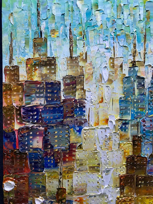 Large Abstract Paintings on Canvas Clearly Textured Building Wall Art
