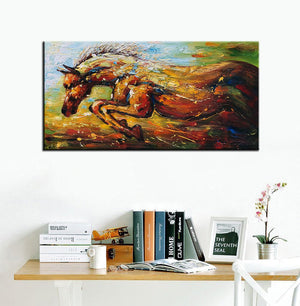 Big Wall Painting Running vigorous Horse 100% Hand Painted Canvas Art