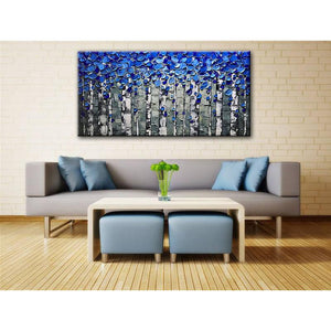 Canvas Oil Painting Acrylic Thick Oil 3D  Abstract Flower Tree