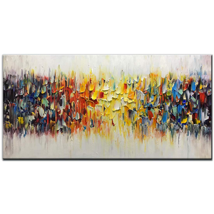 Buy Abstract Art Colorful Thick Oil Perfect Decor Living Room